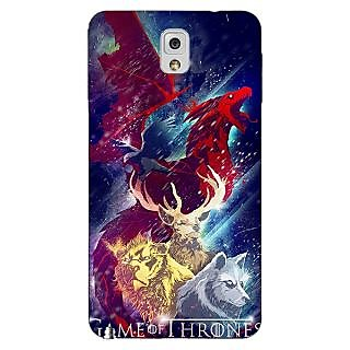 Enhance Your Phone Game Of Thrones GOT House Targaryen  Back Cover Case For Samsung Galaxy Note 3 N9000 E90148