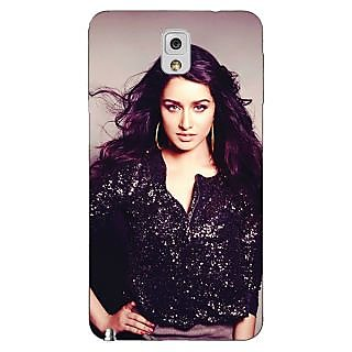Enhance Your Phone Bollywood Superstar Shraddha Kapoor Back Cover Case For Samsung Galaxy Note 3 N9000 E90980