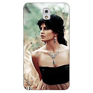 Enhance Your Phone Bollywood Superstar Jacqueline Fernandez Back Cover Case For Samsung Galaxy Note 3 N9000 E91006
