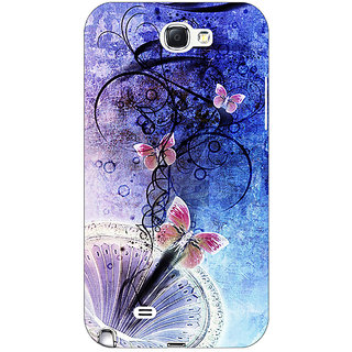 Enhance Your Phone Abstract Butter Fly Pattern Back Cover Case For Samsung Galaxy Note 2 N7100 E81510