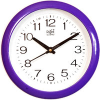 Right Handcrafted Plastic Wall Clock (8 Dia ) With Glass