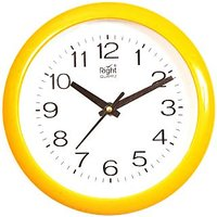 Right Analog Wall Clock(Yellow , With Glass)211Y