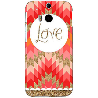 Enhance Your Phone Love Back Cover Case For HTC One M8 E140096