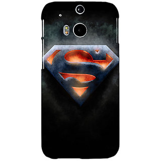 Enhance Your Phone Superheroes Superman Back Cover Case For HTC One M8 E140386