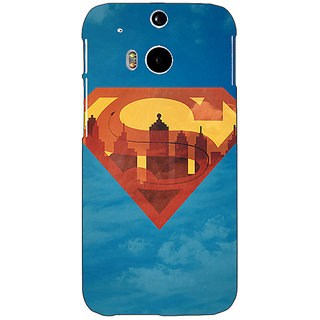 Enhance Your Phone Superheroes Superman Back Cover Case For HTC One M8 E140388