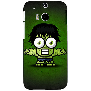 Enhance Your Phone Big Eyed Superheroes Hulk Back Cover Case For HTC One M8 E140394