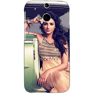 Enhance Your Phone Bollywood Superstar Parineeti Chopra Back Cover Case For HTC One M8 E141062