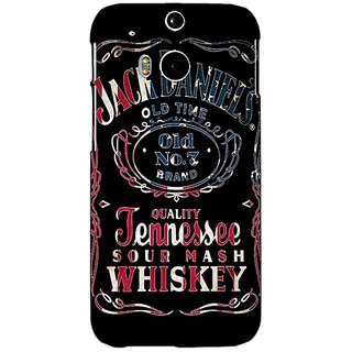 Enhance Your Phone Jack Daniels JD Whisky Back Cover Case For HTC One M8 E141223