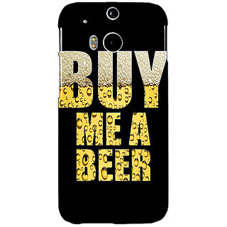 Enhance Your Phone Beer Quote Back Cover Case For HTC One M8 E141224