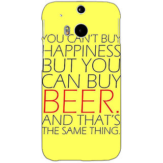 Enhance Your Phone Beer Quote Back Cover Case For HTC One M8 E141231