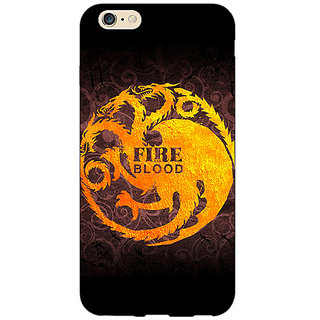 Enhance Your Phone Game Of Thrones GOT House Targaryen  Back Cover Case For Apple iPhone 6 E150149