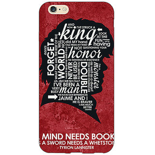 Enhance Your Phone Game Of Thrones GOT House Lannister Tyrion Back Cover Case For Apple iPhone 6 E151557
