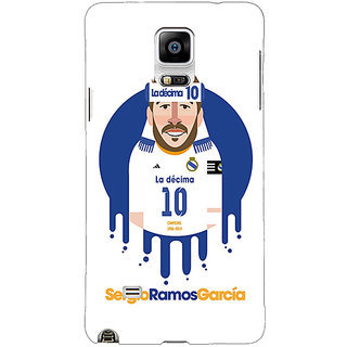 Enhance Your Phone Real Madrid Sergio Ramos Back Cover Case For Samsung Galaxy Note 4 E210587
