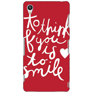 Enhance Your Phone Quotes Smile Back Cover Case For Sony Xperia Z3 E261170