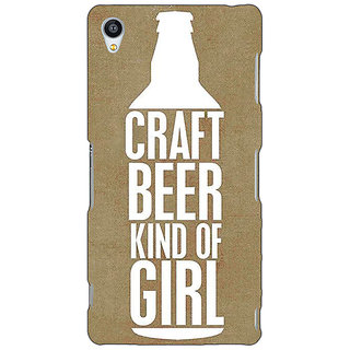 Enhance Your Phone Beer Quote Back Cover Case For Sony Xperia Z3 E261219