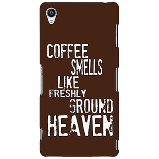 Enhance Your Phone Coffee Quote Back Cover Case For Sony Xperia Z3 E261221