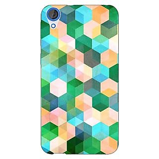 Enhance Your Phone Green Hexagons Pattern Back Cover Case For HTC Desire 820 Dual Sim E300276