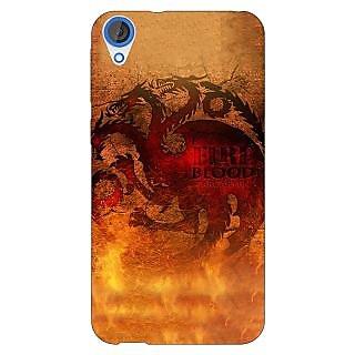 Enhance Your Phone Game Of Thrones GOT House Targaryen Back Cover Case For HTC Desire 820 E281550