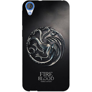 Enhance Your Phone Game Of Thrones GOT House Targaryen  Back Cover Case For HTC Desire 820 Dual Sim E300145