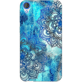 Enhance Your Phone Blue Floral Doodle Pattern Back Cover Case For HTC Desire 820 Dual Sim E300211