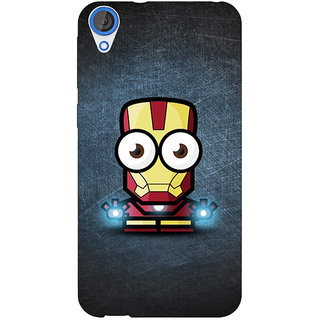 Enhance Your Phone Big Eyed Superheroes Iron Man Back Cover Case For HTC Desire 820 Dual Sim E300396