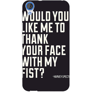 Enhance Your Phone SUITS Quotes Back Cover Case For HTC Desire 820 Dual Sim E300485