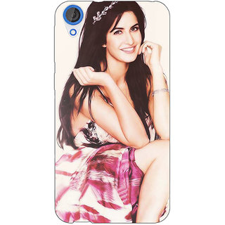Enhance Your Phone Bollywood Superstar Katrina Kaif Back Cover Case For HTC Desire 820 Dual Sim E300979