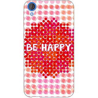 Enhance Your Phone Quotes Happy Back Cover Case For HTC Desire 820Q E291154