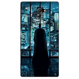 Enhance Your Phone Superheroes Batman Dark knight Back Cover Case For Sony Xperia M2 Dual E320002