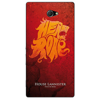 Enhance Your Phone Game Of Thrones GOT House Lannister  Back Cover Case For Sony Xperia M2 Dual E320158