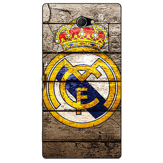 Enhance Your Phone Real Madrid Back Cover Case For Sony Xperia M2 Dual E320596