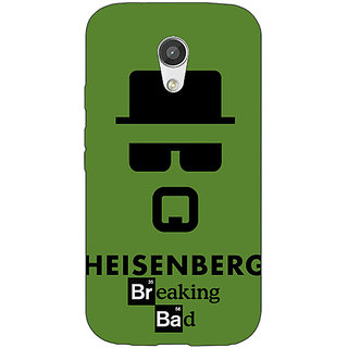 Enhance Your Phone Breaking Bad Heisenberg Back Cover Case For Moto G (2nd Gen) E200414