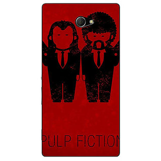 Enhance Your Phone Pulp Fiction Back Cover Case For Sony Xperia M2 Dual E320353