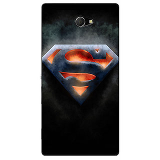 Enhance Your Phone Superheroes Superman Back Cover Case For Sony Xperia M2 Dual E320386