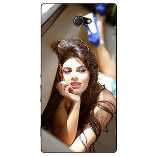 Enhance Your Phone Bollywood Superstar Jacqueline Fernandez Back Cover Case For Sony Xperia M2 Dual E320996