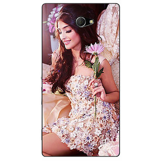 Enhance Your Phone Bollywood Superstar Sonam Kapoor Back Cover Case For Sony Xperia M2 Dual E321063