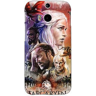 Enhance Your Phone Game Of Thrones GOT House Targaryen  Back Cover Case For HTC One M8 Eye E330139