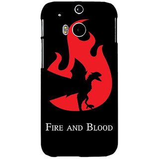 Enhance Your Phone Game Of Thrones GOT House Targaryen  Back Cover Case For HTC One M8 Eye E330143