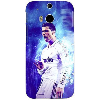 Enhance Your Phone Cristiano Ronaldo Real Madrid Back Cover Case For HTC One M8 Eye E330308