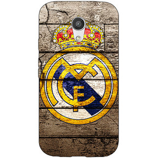 Enhance Your Phone Real Madrid Back Cover Case For Moto G (2nd Gen) E200596