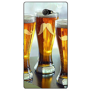 Enhance Your Phone Beer Glasses Back Cover Case For Sony Xperia M2 Dual E321202