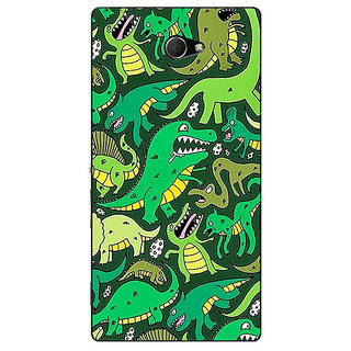 Enhance Your Phone Dinosaurs Pattern Back Cover Case For Sony Xperia M2 Dual E321383