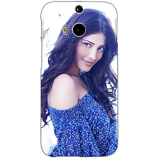 Enhance Your Phone Bollywood Superstar Shruti Hassan Back Cover Case For HTC One M8 Eye E331065