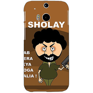 Enhance Your Phone Bollywood Superstar Sholay Back Cover Case For HTC One M8 Eye E331123