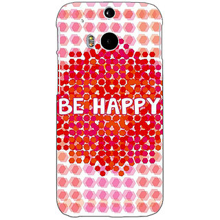 Enhance Your Phone Quotes Happy Back Cover Case For HTC One M8 Eye E331154