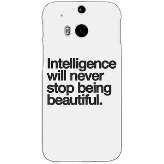 Enhance Your Phone Quotes Intelligence Beautiful Back Cover Case For HTC One M8 Eye E331186