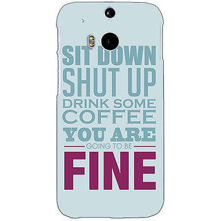 Enhance Your Phone Quote Back Cover Case For HTC One M8 Eye E331346