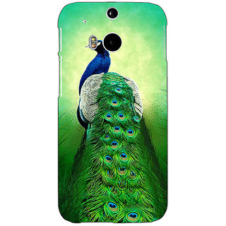 Enhance Your Phone Paisley Beautiful Peacock Back Cover Case For HTC One M8 Eye E331599