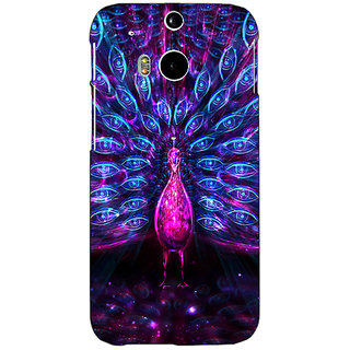 Enhance Your Phone Paisley Beautiful Peacock Back Cover Case For HTC One M8 Eye E331600