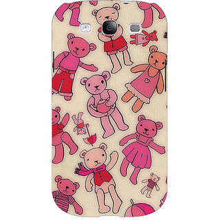 Enhance Your Phone Teddy Pattern Back Cover Case For Samsung Galaxy S3 Neo E340263